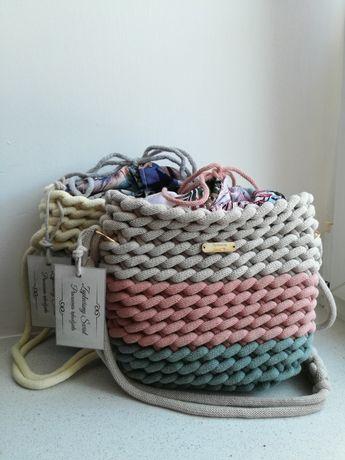 Pleciona torebka handmade 3kolory (różne kolory na zamówienie)