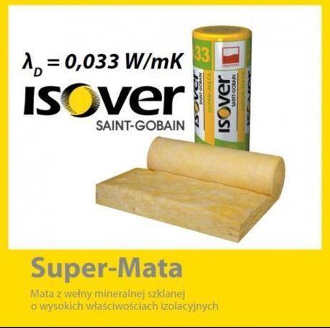 wełna isover 0,033 super-mata mineralna 15cm dostępne różne grubości