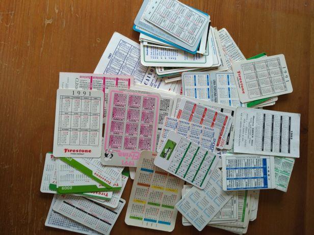 Coleção calendários de bolso
