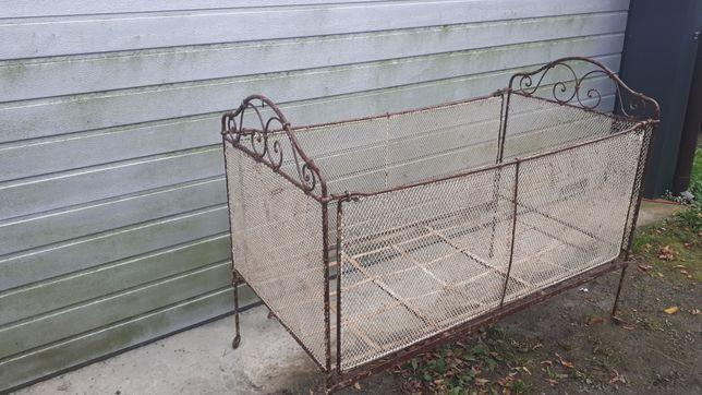 Łóżko dziecięce -zabytkowe, składane