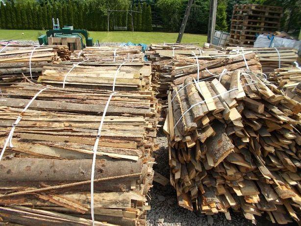 Wiązki sosnowe, drewno opałowe zrzyny