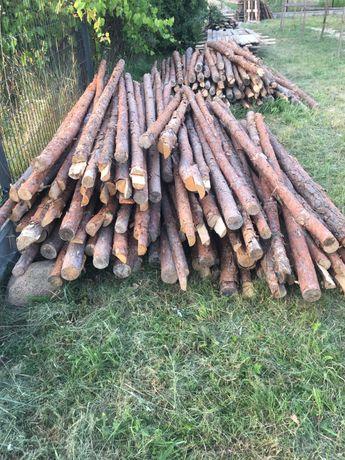 Stemple drewniane ok. 300 szt dł. 2,95 - 3,40