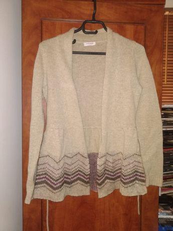 Sweterek ORSAY sweter złota nitka 36 S narzutka wełna