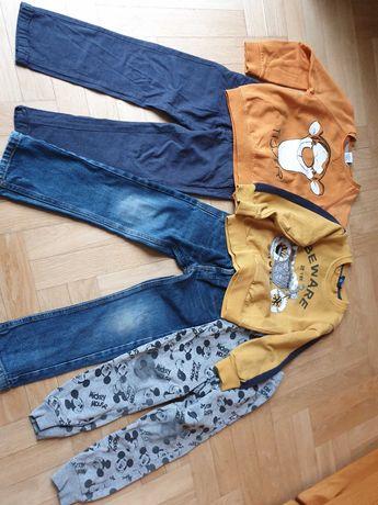 Ubrania bluzka spodnie 110