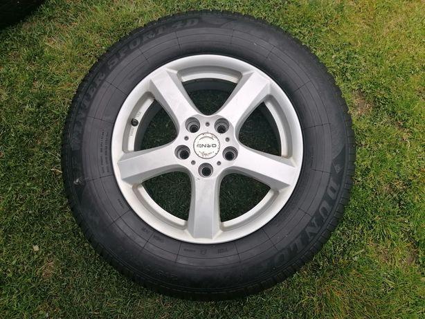 Koła felgi aluminiowe ENZO 5x114.3 z oponami Dunlop 215/70/R16