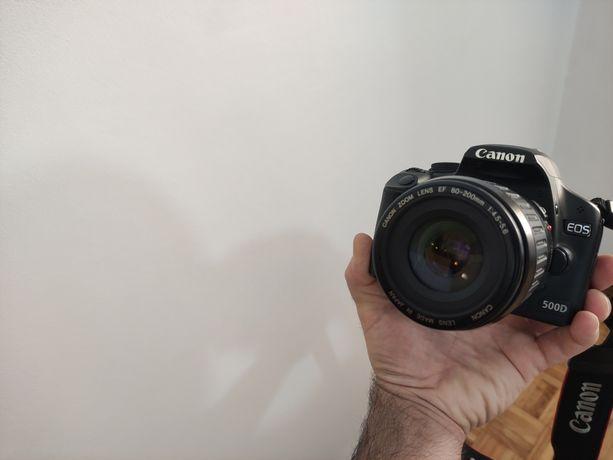 Canon 500d +lente ef 80-200mm + 50mm stm