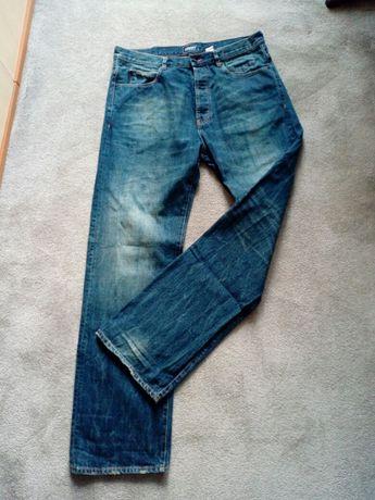 Dżinsy męskie ADDICT pas 45 cm, dla wysokiego mężczyzny