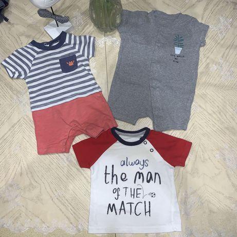0-3 мес летняя одежда для мальчика