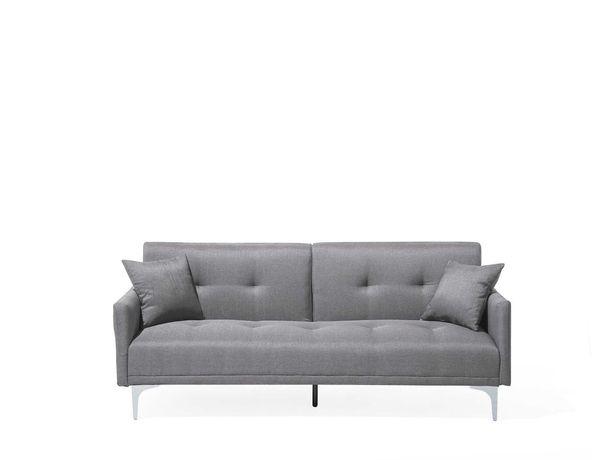 Sofá-cama BELIANI 2/3 lugares em tecido cinzento LUCAN