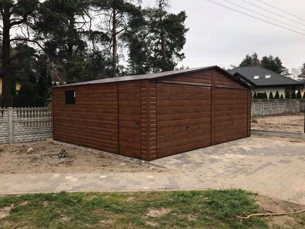 Garaż Blaszany Drewnopodobny 4x6 6x6 9x6 9x5 7x7 TRANSPORT CAŁA POLSKA