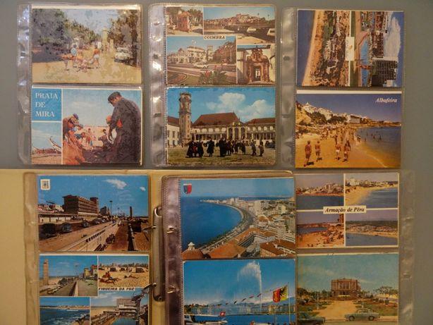 Coleção de 106 postais muito antigos com dossier