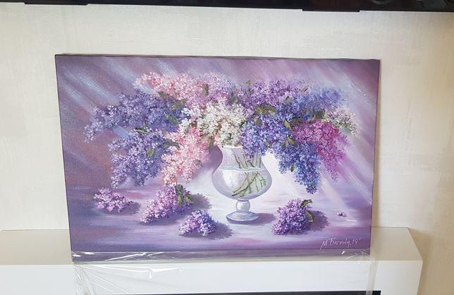 Картина маслом натюрморт Сирень