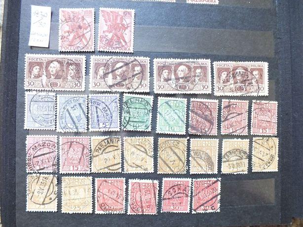 zestaw 28szt.znaczki 1930/1932r./pełny kasownik miejscowość/Polska PMW
