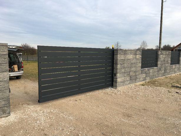 Nowoczesna brama wjazdowa aluminiowa SORI150 ALUPLANET