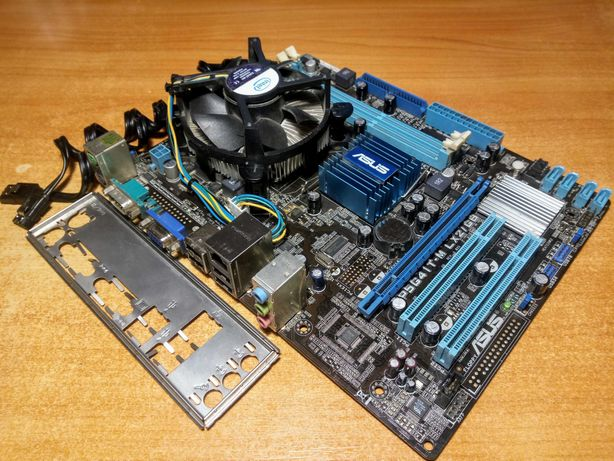 Asus P5G41T-M LX2GB + Xeon E5410 2.3GHz(сокет 775) + кулер(Не висилаю)