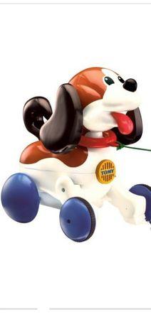 Игрушка собачка Томи,развивающая тягалка: лает,скулит, интерактивная