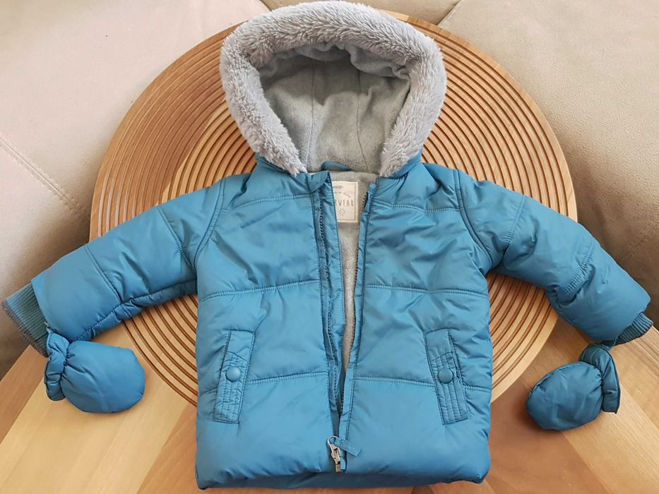 Теплая куртка GEORGE джордж, 9-12мес. NEXT, GAP, ZARA Одесса - изображение 1