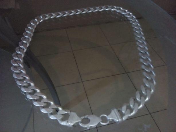 Цепочка серебряная панцирная 65 см. 224 г.