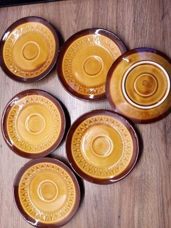 talerze talerzyki deserowe kawowe 6 szt Chodzież