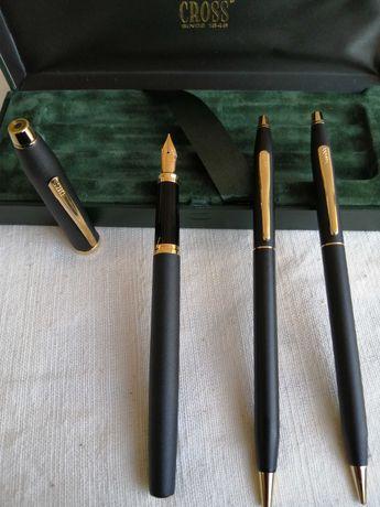 Conjunto de canetas da cross, com banho de ouro 24 Q. Novo preço.