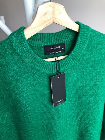Nowy sweter męski zielony Reserved oversize fit M 38