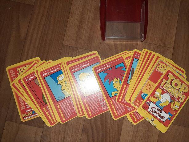 Top trumps, карточки Симпсоны, simpsons