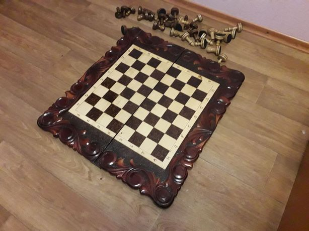 Шахматы+нарды ручной работы, большие