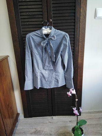 Koszula w kratkę z krawatką rozmiar S/M