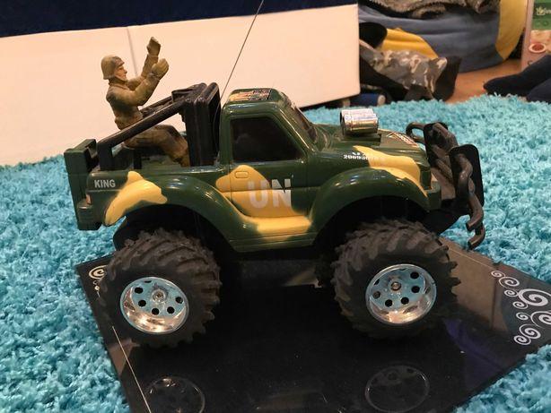 #20 Машинка военный Джип, большая, поворачиваются колеса