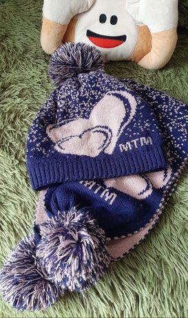 Шапка і шарф для дівчаток