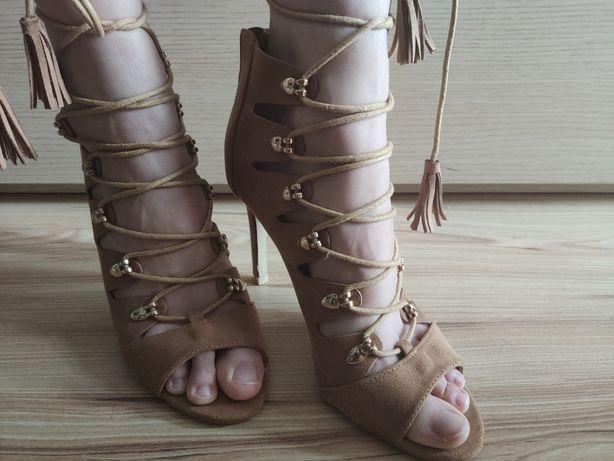 Buty sandały na obcasie Vices