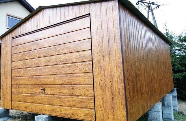 Dwuspadowy Drewnopodobny Garaż Akryl 3x7