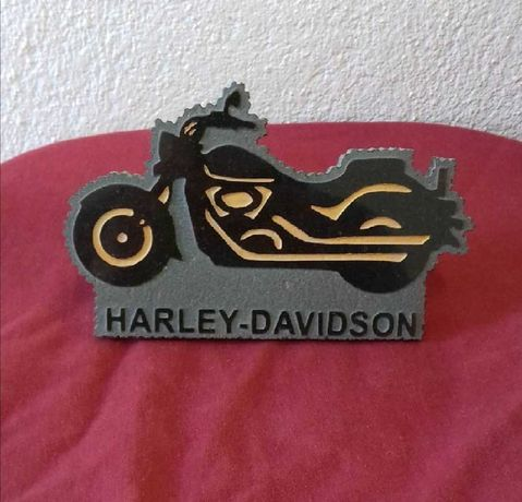 Harley-Davidson - peça em mármore, artesanato