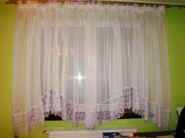 Firana 175x500 piękna elegancja gipiura 30 cm firanka woal gładki HIT! Kębliny - image 1