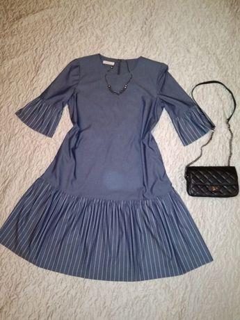 Платье женское с рюшами 50