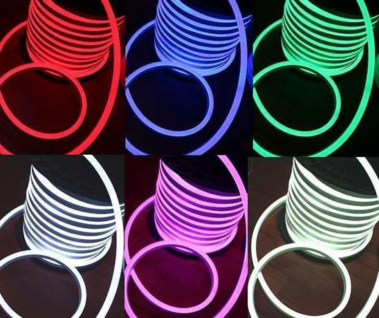 Гибкий неон, неон флекс, led neon flex 220В и 12В, оптом и в розницу