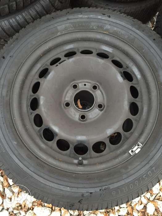 Felgi stalowe 16 VW AUDI SEAT SKODA 5x112 +opony DUNLOP 205/60r16!!! Wałbrzych - image 1