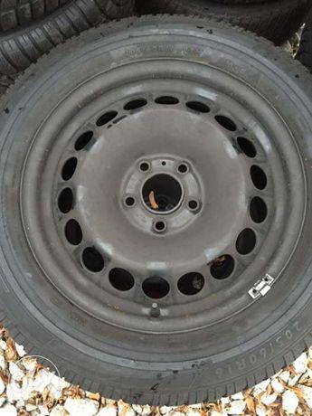 Felgi stalowe 16 VW AUDI SEAT SKODA 5x112 +opony DUNLOP 205/60r16!!!
