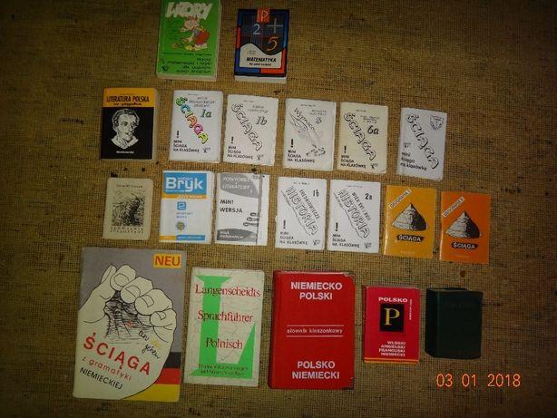 książki szkolne, poradniki,śćiągi,ryby,psy,karate itp.