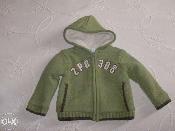 Casaco da zippy de menino ( 12/18 meses)