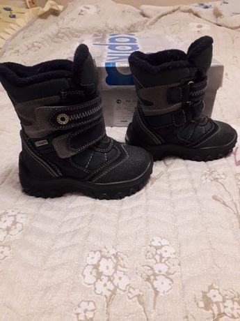 Зимові шкіряні черевики для хлопчика