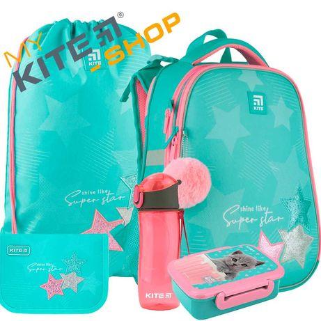 Школьный комплект 5-в-1 КАЙТ  Рюкзак сумка пенал для девочки KITE