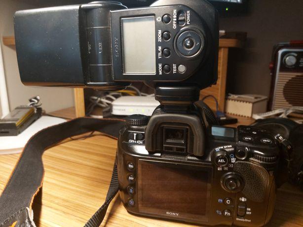 Sony a900 sigma dg hsm 50mm 1,4 lampa sony hvl-f58am