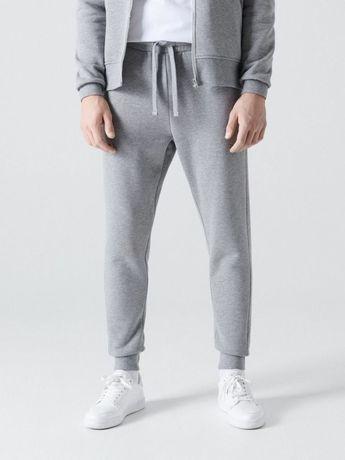 Серые теплые спортивные штаны cropp