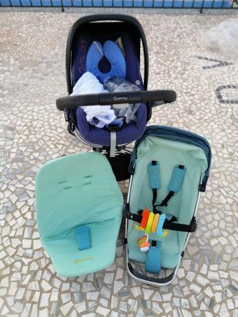 Carrinho de bebé Quinny+Ovinho bébéconfort+adaptadores + capas/forras