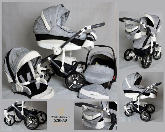 Wózek Bebetto murano 3w1 piękny zestaw