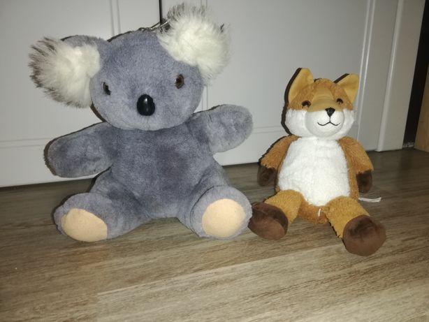 Pluszowy lis i pluszowy koala każdy za 5 zł