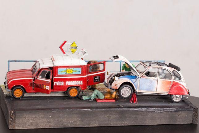 Modele Renault 4L i Citroen 2CV 1:24