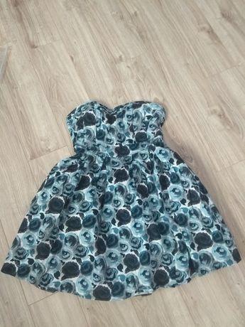 Sukienka damska bez ramiączek