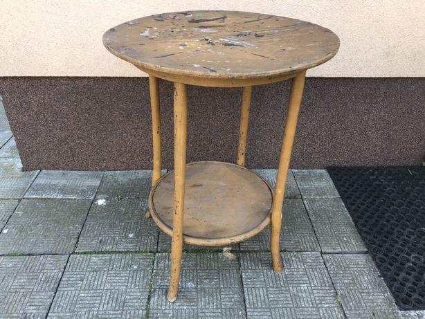 stół okrągły stolik kawowy ława PRL retro vintage lata 70 loft